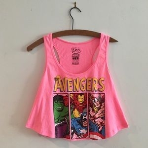 90's Avengers Crop Top